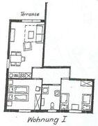Wohnung 1 - 60m²