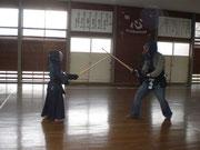23日西中学校で剣道を体験