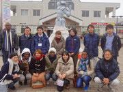 福島県須賀川市訪問。福島の幸せを願って一枚…