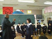 21日鳥取県倉吉市西中学校での交流1