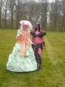 Avec la Reine du festival