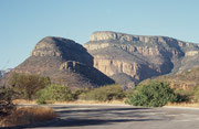Auf dem Weg zum nächsten Aventura Resort (Swadini) in der Nähe des Blydepoort Damms, der im obersten Teil des Blyde River Canyon Naturreservates liegt, dass sich von Graskop im Süden bis zu einem riesigen, natürlichen Amphitheater im Norden erstreckt.