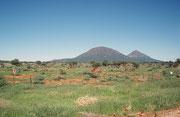 Landschaft auf dem Weg vom Etosha NP nach Otjiwarongo und Windhoek - und wieder zurück in die winterliche Schweiz.
