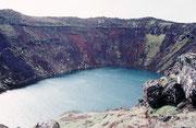 Der zum postglazialen Grímsnes-Vulkanfeld gehörende Kratersee Kerid