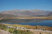 Laguna Lucre in der Nähe der Ruine der Stadt Picillacta, die in der Vorinkazeit eine sehr grosse Wari-Stadt auf 3220 m Höhe mit einem Fläche von ca. 50 ha war.