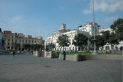 Der Hauptplatz, Plaza Mayor oder Plaza de Armes in Lima, der Hauptstadt Perus. Genau an dieser Stelle hat Francisco Pizarro Lima gegründet.