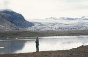Am Ende der zweiten Zunge des Vattnajökull bildet sich der See Breidarlon.