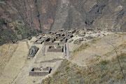 Die ursprüngliche Anlage umfasste Häuser (hier im Bild) und Paläste, Tempel und Mausoleen.