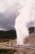 Geopark (geothermisches Areal) auf der Halbinsel Reykjanes der Gemeinde Hveragerdi