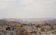 Auf dem höchsten Punkt unserer Wanderung angelangt, hatten wir einen gute Aussicht auf die Felslandschaft des Namib-Naukluft Nationalparks.
