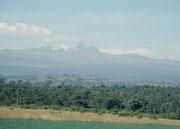 Mount Kenya, der höchste Berg Kenias. An seinem Fusse verbrachten wir eine Nacht