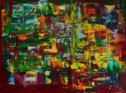 """Sommerwald"", Acryl, 90x120, 2014"