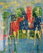 Ufer,Acryl auf Papier,  33x30 cm