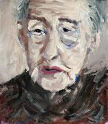 Portrait001: Gouache auf Papier, ca. 24x28cm. Die Gesichter alter Menschen sind für mich besonders faszinierend. Sie erzählen mir immer eine ganz persönliche Geschichte.