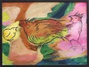 Der Schrei nach Freiheit, Öl auf Leinwand,60x80