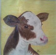 Kalb,Pastell,53x53,2011 (Privatbesitz)
