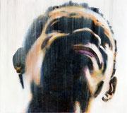 Faceafrika002: Öl auf Leinwand, ca. 32x35cm.