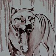 Extinct 1, 30x30, Öl auf Leinen, 2009