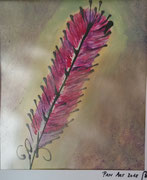 Feder, (Acryl auf Papier, 30x25 cm