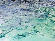 Des Meeres und der Liebe…., Aquarell auf Papier, ca. 50x70cm