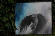 Großer schwarzer Vogel, 80x90, Öl auf Leinen, 2011