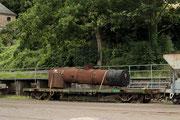 Der über 100 Jahre alte Kessel der 11sm am 18.7.2012 in Brohl-Lützing.