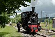 99 7203 im Jahre 2012 auf der Stammstrecke Amstetten - Oppingen.