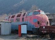 Zustand im Mai 2012: Das grässliche Graffiti wurde überlackiert. Eine komplett graue Lackierung wird folgen.