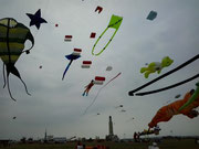 Box Kites flying