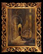 Paule Bisman, intérieur d'église ; coll. privée