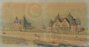 Hobé, aquarelle du nouveau Kursaal ; Namur, musée de Croix , coll. Société archéologique de Namur
