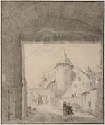 Dessin de Jan de Beyer ; Namur, musée de Croix , coll. Société archéologique de Namur