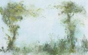 Loving Corot, 2018, 185x115cm, Eitempera auf Leinwand