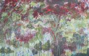 o.T. (wachsend),2015, 160x100cm, Leimfarbe auf Leinwand