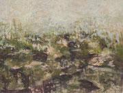 o.T. (Moor), 2015, 140x110cm, Leimfarbe auf Leinwand