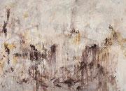 o.T. (Erde), 2014,200x145cm, Leimfarbe auf Leinwand