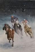 Pferde-Schneerennen