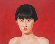 Auf rot | 2012 | 80 x 100 cm | Acryl auf Baumwolle