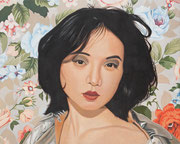 Vor Blütentapete | 2012 | 80 x 100 cm | Acryl auf Baumwolle