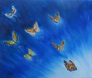 Polvere di Farfalle nell'azzurro - Olio su tela - 50x60 - 2012