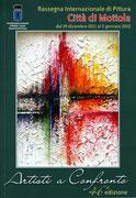 """Copertina Catalogo """"Artisti a Confronto"""" 46^ Edizione Rassegna Internazionale di pittura Città di Mottola"""