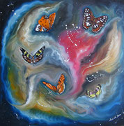 Vortice di Farfalle Olio su tela 50x50 2011