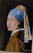La ragazza con il turbante (Omaggio a Vermeer - Olio su tela - 50x40 - 2008