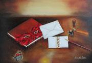 Le lettere dell'Anima - Olio su tela - 35x50
