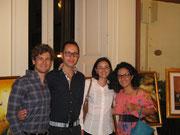 Lucia La Sorsa con Piero Dell'Anno ed altri amici