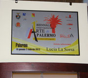 Targa Artista selezionato Biennale di Palermo