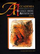 Copertina Catalogo Accademia Internazionale delle Avanguardie Artistiche 2012