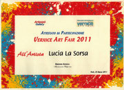 Attestato di partecipazione Venice Art Fair 2011