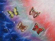 La Galassia delle Farfalle 3 - Olio su tela - 45x60 - 2014 (Collezione privata)