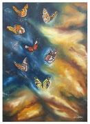 La galassia delle farfalle, Olio su tela 50x70 Giugno 2011